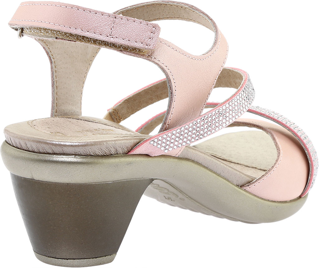 Women's Naot Innovate Heeled Sandal, Pearl Rose/Silver Rivet Leather, large, image 4