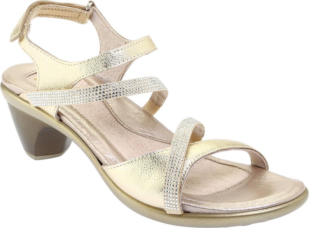 Women's Naot Innovate Heeled Sandal, Radiant Gold/Gold Leather/Rivets, large, image 1