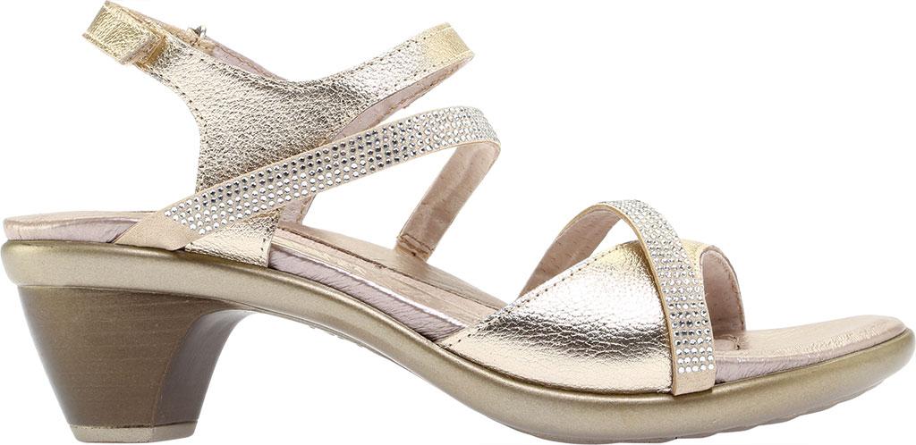 Women's Naot Innovate Heeled Sandal, Radiant Gold/Gold Leather/Rivets, large, image 2