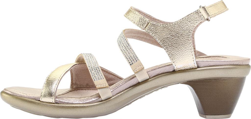 Women's Naot Innovate Heeled Sandal, Radiant Gold/Gold Leather/Rivets, large, image 3