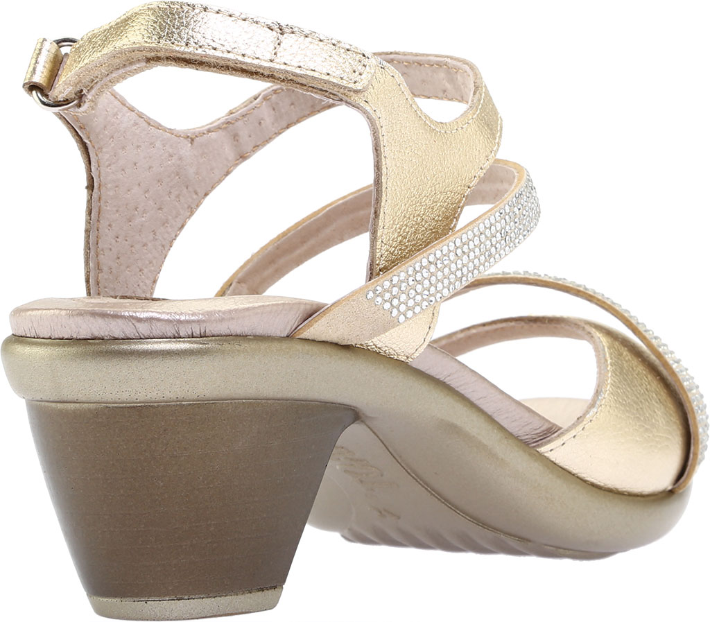 Women's Naot Innovate Heeled Sandal, Radiant Gold/Gold Leather/Rivets, large, image 4