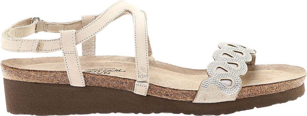 Women's Naot Addie Ankle Strap Sandal, Beige/Silver Rivets/Beige Nubuck/Quartz Leather, large, image 2