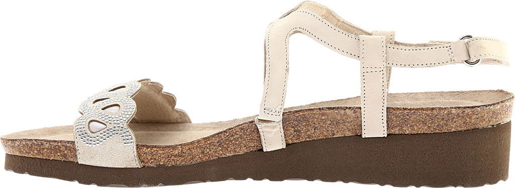 Women's Naot Addie Ankle Strap Sandal, Beige/Silver Rivets/Beige Nubuck/Quartz Leather, large, image 3