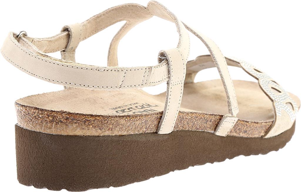 Women's Naot Addie Ankle Strap Sandal, Beige/Silver Rivets/Beige Nubuck/Quartz Leather, large, image 4