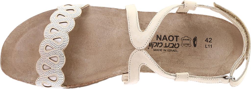 Women's Naot Addie Ankle Strap Sandal, Beige/Silver Rivets/Beige Nubuck/Quartz Leather, large, image 5