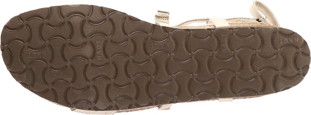 Women's Naot Addie Ankle Strap Sandal, Beige/Silver Rivets/Beige Nubuck/Quartz Leather, large, image 6