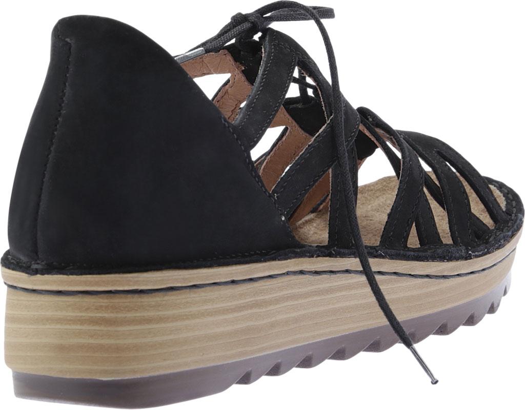 Women's Naot Yarrow Wedge Sandal, Black Velvet Nubuck, large, image 4