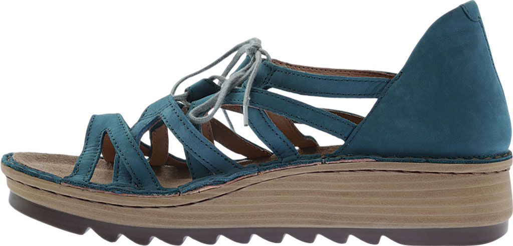 Women's Naot Yarrow Wedge Sandal, Teal Nubuck, large, image 3
