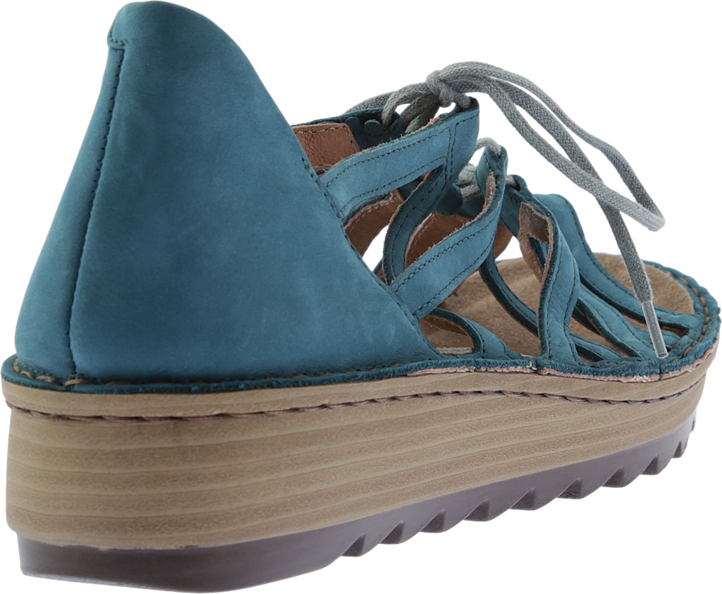 Women's Naot Yarrow Wedge Sandal, Teal Nubuck, large, image 4