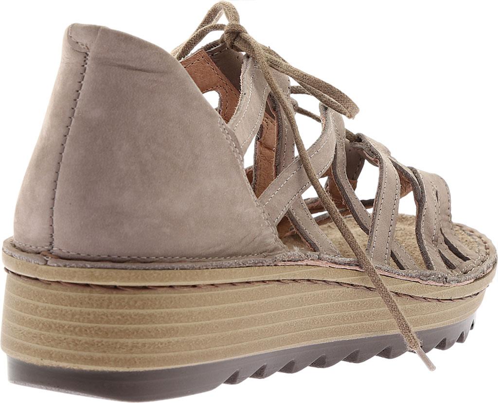 Women's Naot Yarrow Wedge Sandal, Stone Nubuck, large, image 4