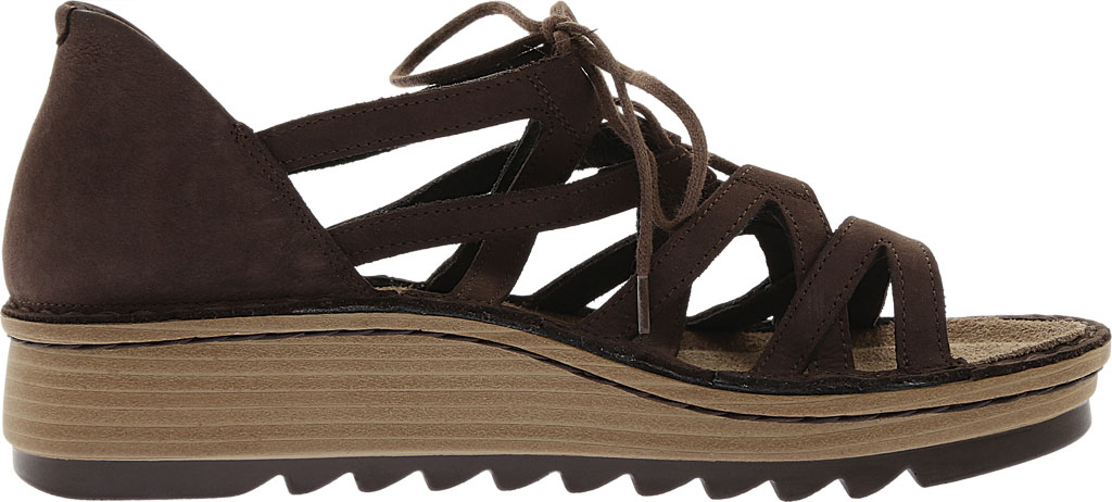 Women's Naot Yarrow Wedge Sandal, Coffee Nubuck, large, image 2