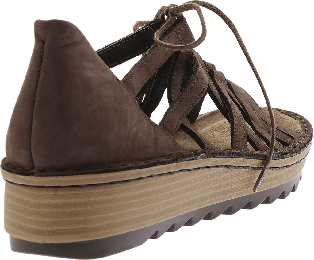 Women's Naot Yarrow Wedge Sandal, Coffee Nubuck, large, image 4