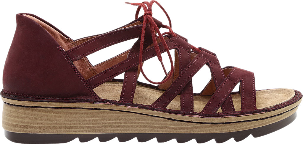 Women's Naot Yarrow Wedge Sandal, Violet Nubuck, large, image 2