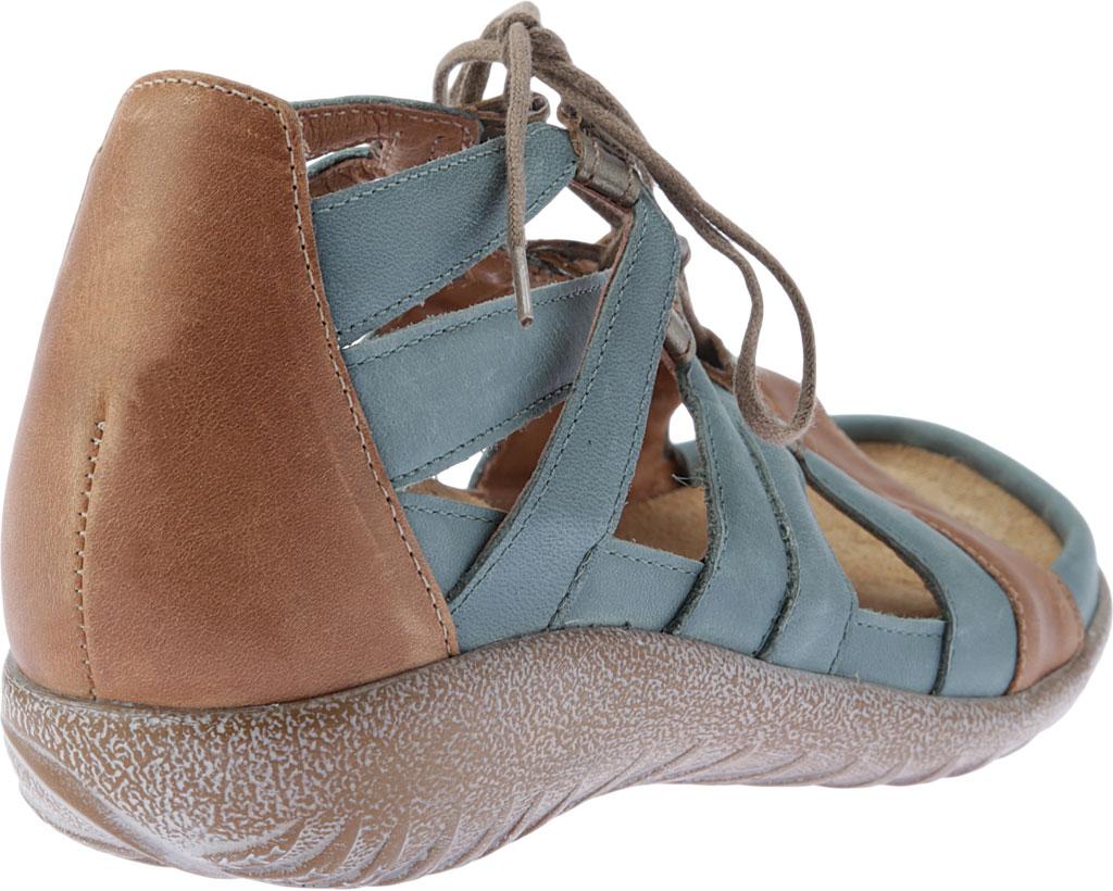 Women's Naot Selo Gladiator Sandal, Sea Green/Latte Brown/Pewter Leather, large, image 4