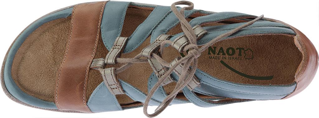 Women's Naot Selo Gladiator Sandal, Sea Green/Latte Brown/Pewter Leather, large, image 5