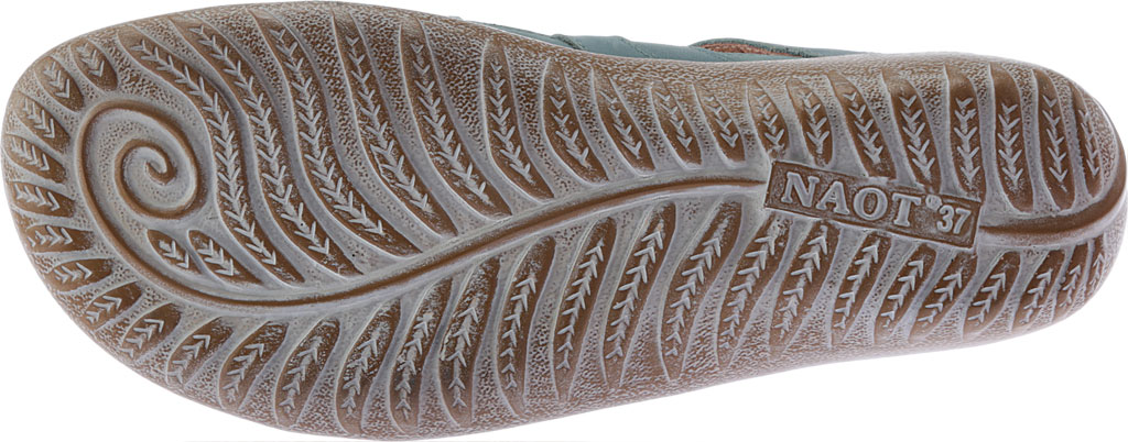 Women's Naot Selo Gladiator Sandal, Sea Green/Latte Brown/Pewter Leather, large, image 6