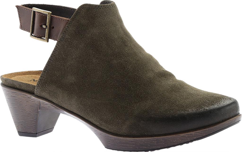 Women's Naot Upgrade Clog, Olive/Walnut Suede/Leather, large, image 1