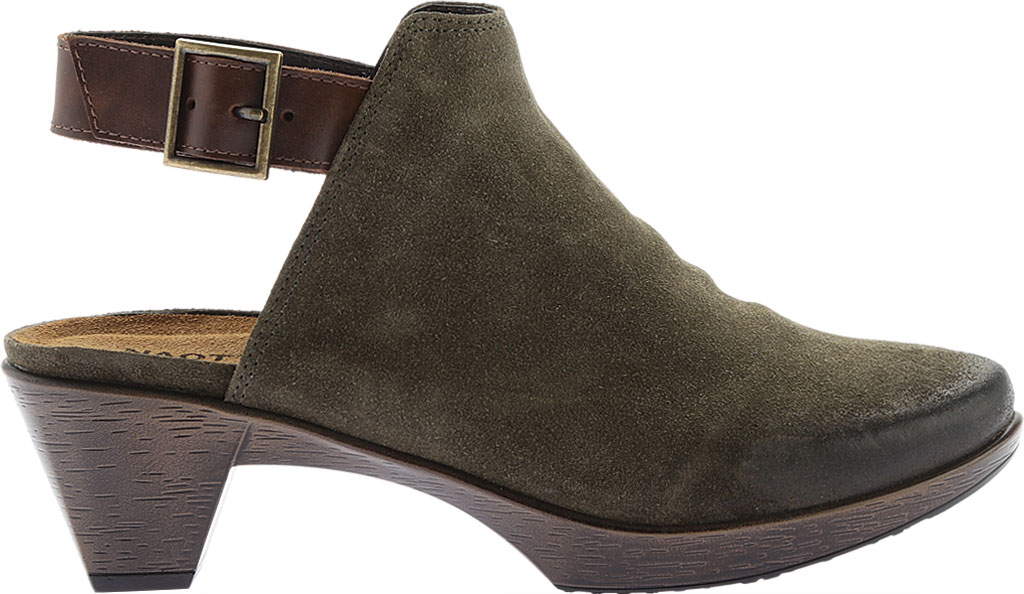 Women's Naot Upgrade Clog, Olive/Walnut Suede/Leather, large, image 2