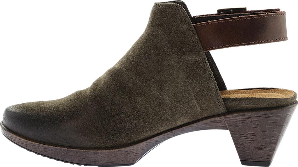 Women's Naot Upgrade Clog, Olive/Walnut Suede/Leather, large, image 3