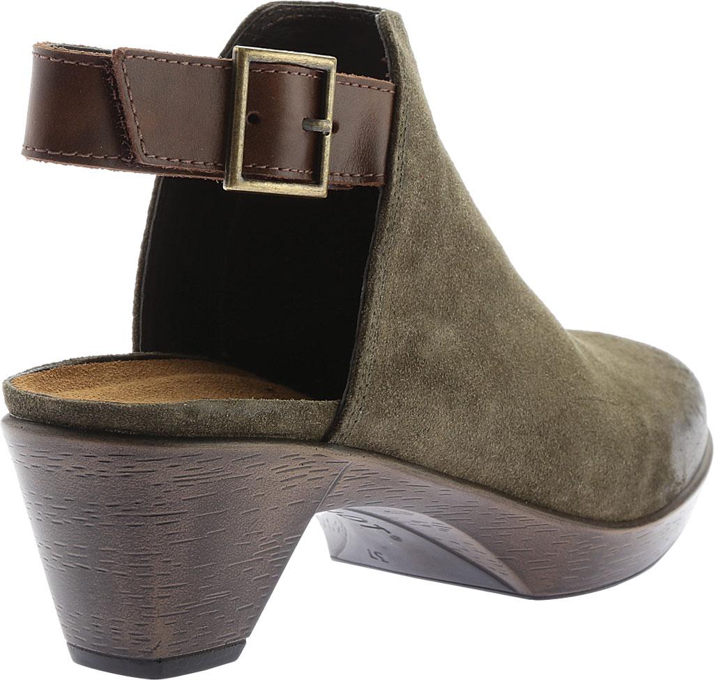 Women's Naot Upgrade Clog, Olive/Walnut Suede/Leather, large, image 4