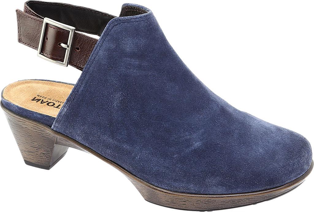Women's Naot Upgrade Clog, Brushed Midnight Blue/Walnut Suede/Leather, large, image 1
