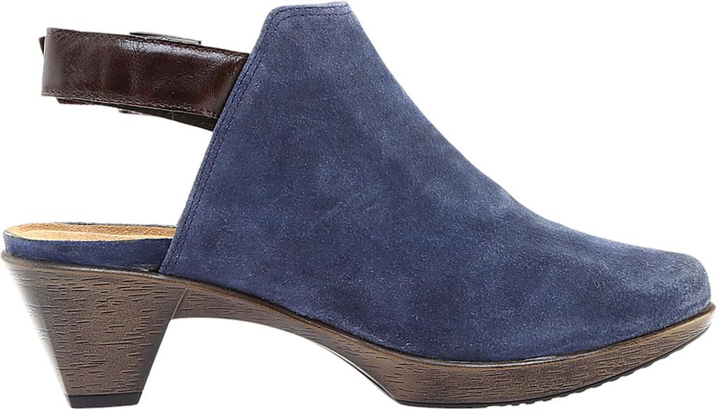 Women's Naot Upgrade Clog, Brushed Midnight Blue/Walnut Suede/Leather, large, image 2
