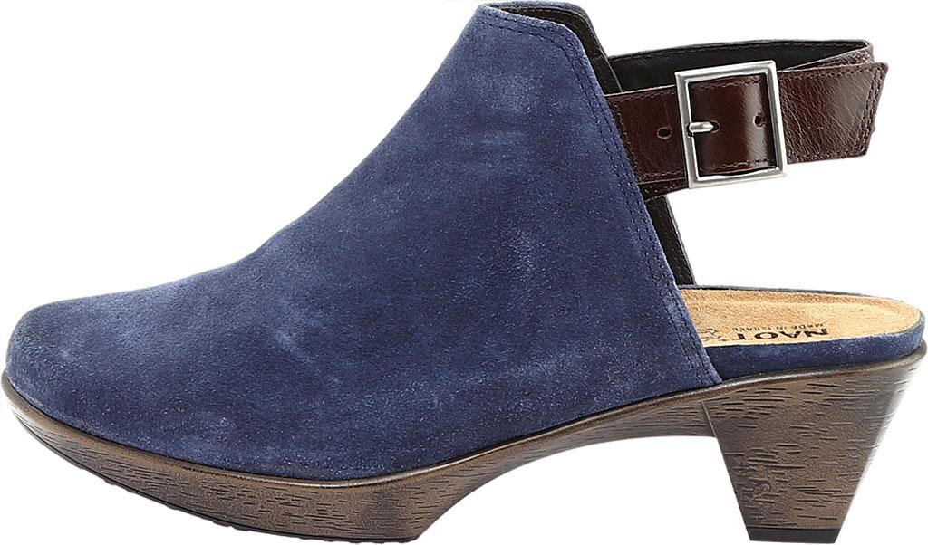 Women's Naot Upgrade Clog, Brushed Midnight Blue/Walnut Suede/Leather, large, image 3