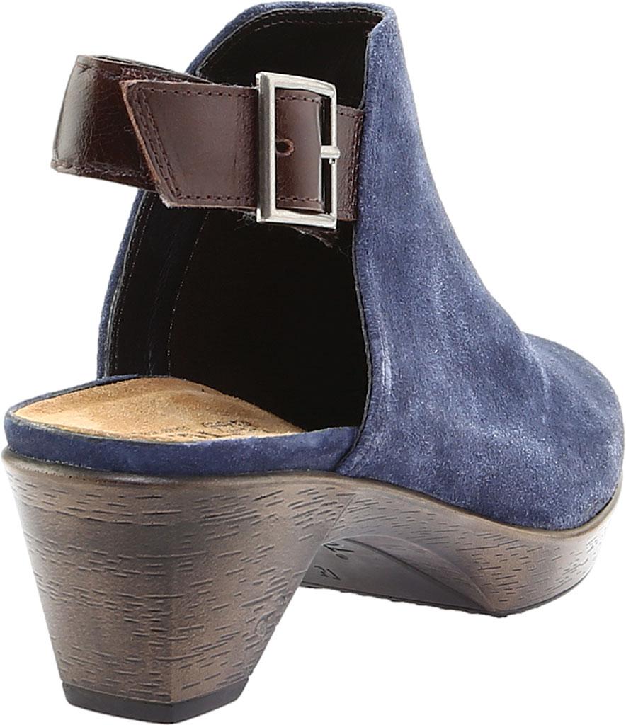 Women's Naot Upgrade Clog, Brushed Midnight Blue/Walnut Suede/Leather, large, image 4