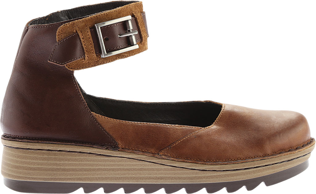 Women's Naot Sycamore Ankle Strap Flat, Brown Combo Leather/Suede, large, image 2