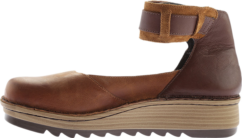 Women's Naot Sycamore Ankle Strap Flat, Brown Combo Leather/Suede, large, image 3