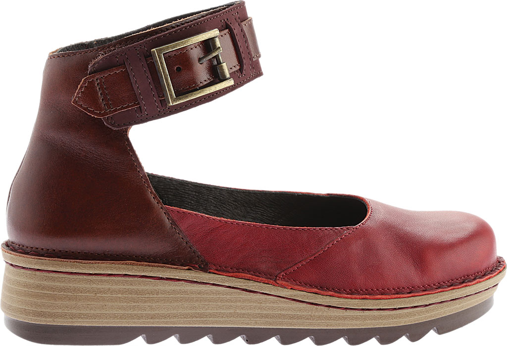 Women's Naot Sycamore Ankle Strap Flat, Berry/Brown Nubuck/Leather, large, image 2