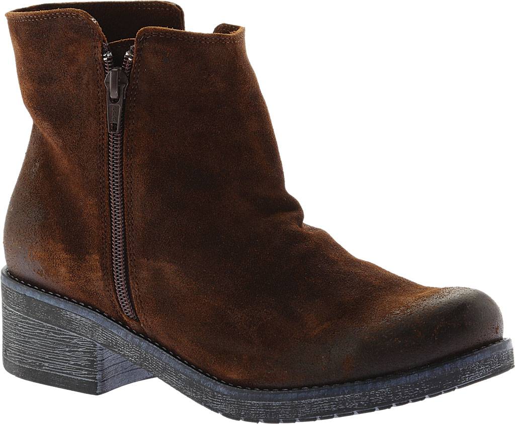 Women's Naot Wander Ankle Boot, Seal Brown Suede, large, image 1