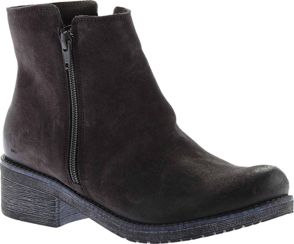 Women's Naot Wander Ankle Boot, Oily Midnight Suede, large, image 1