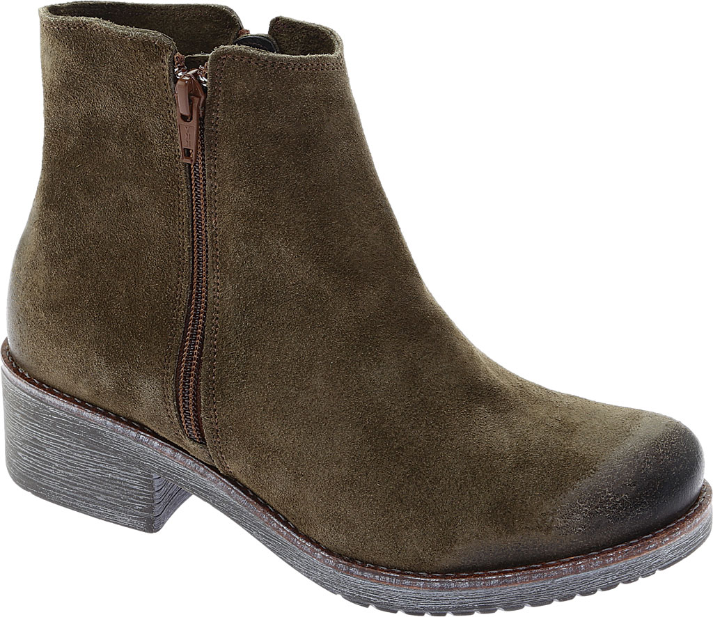 Women's Naot Wander Ankle Boot, Brushed Oily Olive Suede, large, image 1