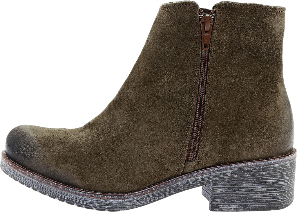 Women's Naot Wander Ankle Boot, Brushed Oily Olive Suede, large, image 3