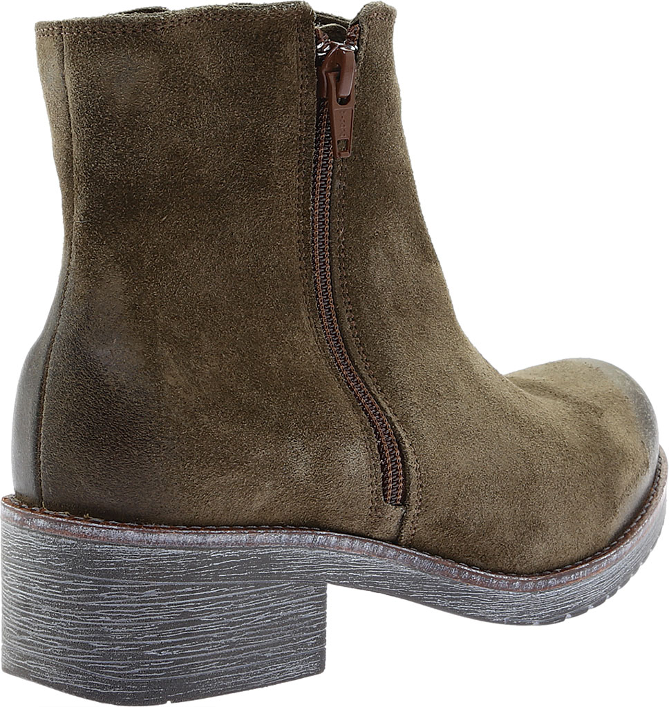 Women's Naot Wander Ankle Boot, Brushed Oily Olive Suede, large, image 4