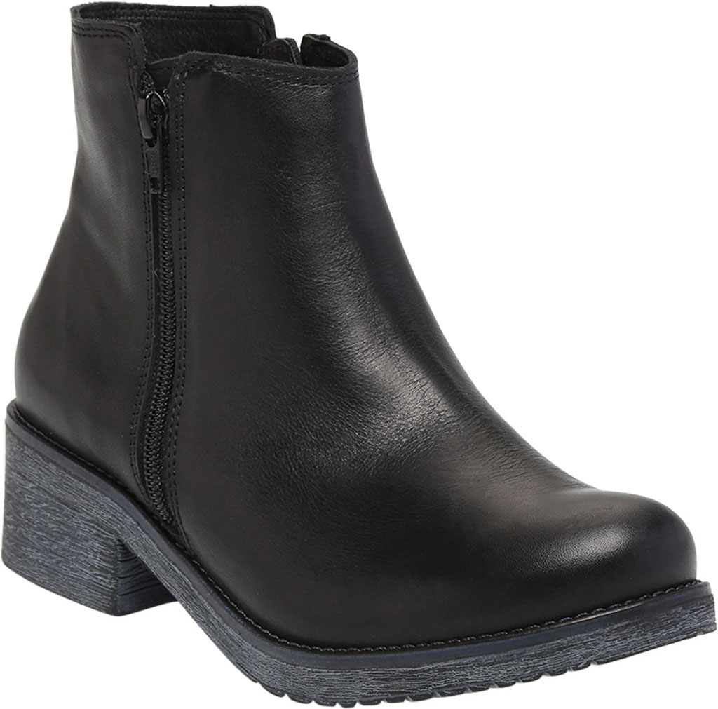 Women's Naot Wander Ankle Boot, Water Resistant Black Leather, large, image 1