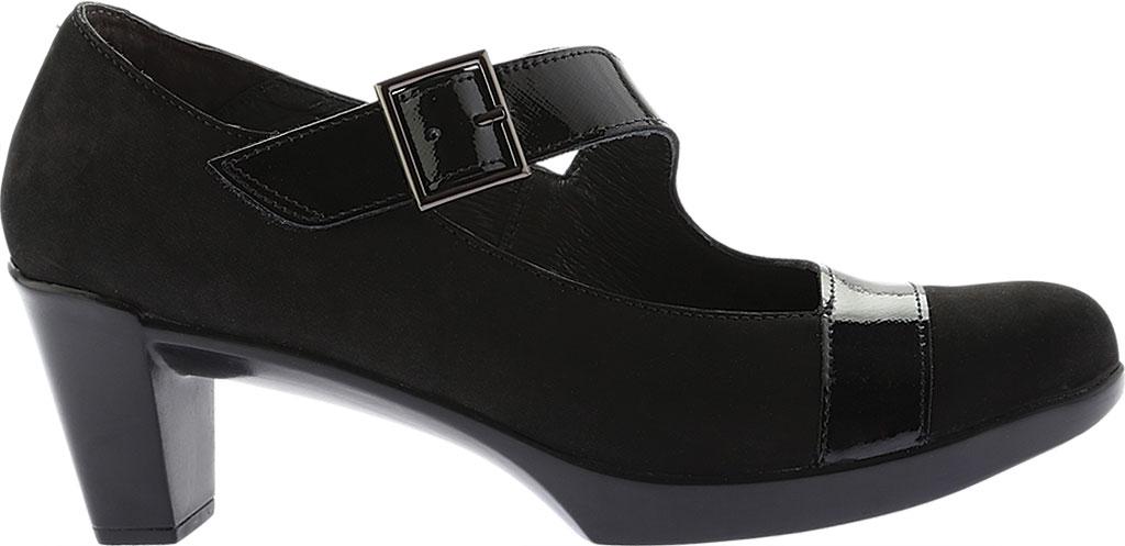 Women's Naot Brava Mary Jane, Black Combo Nubuck/Leather, large, image 2