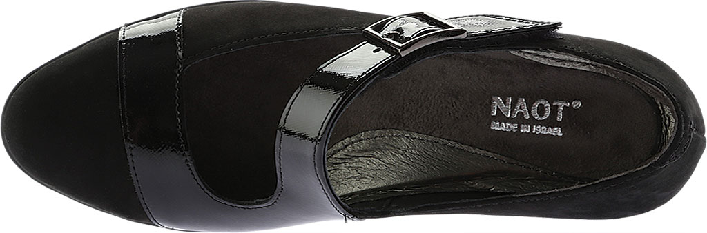 Women's Naot Brava Mary Jane, Black Combo Nubuck/Leather, large, image 5