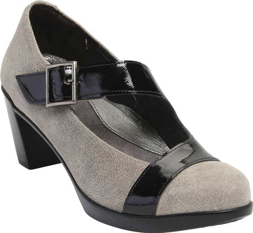 Women's Naot Brava Mary Jane, Speckled Beige/Black Luster Leather, large, image 1