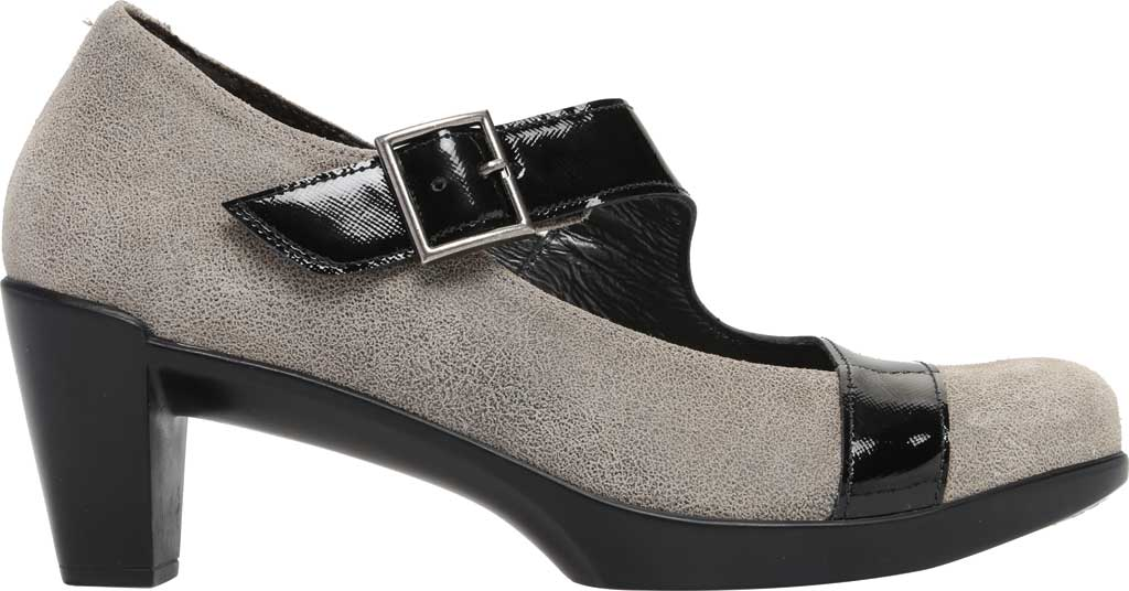 Women's Naot Brava Mary Jane, Speckled Beige/Black Luster Leather, large, image 2