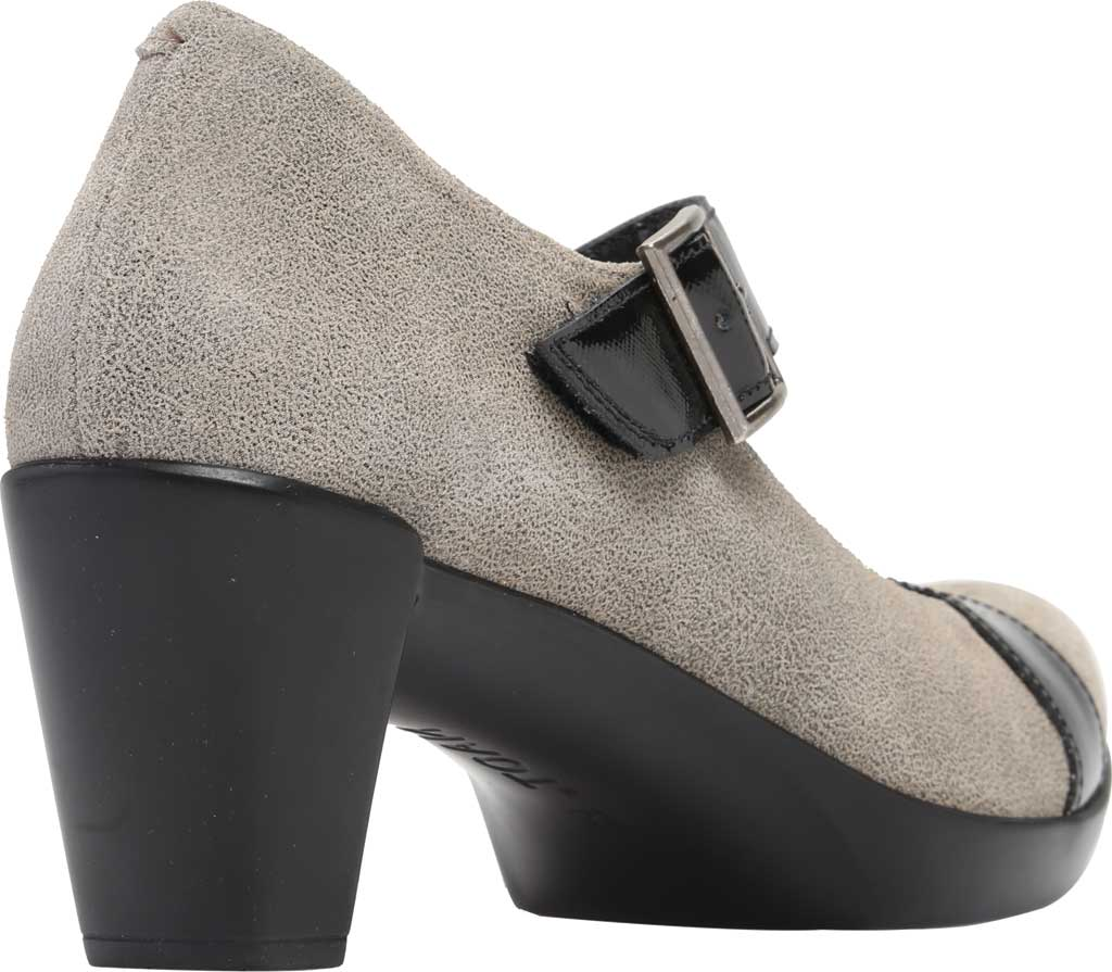 Women's Naot Brava Mary Jane, Speckled Beige/Black Luster Leather, large, image 4