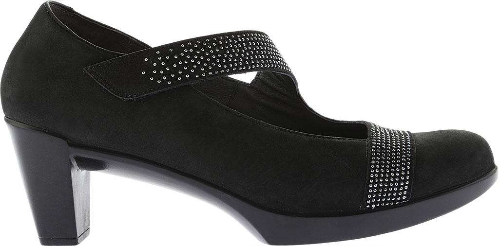 Women's Naot Abbracci Mary Jane, Black Combo Leather/Microfiber, large, image 2