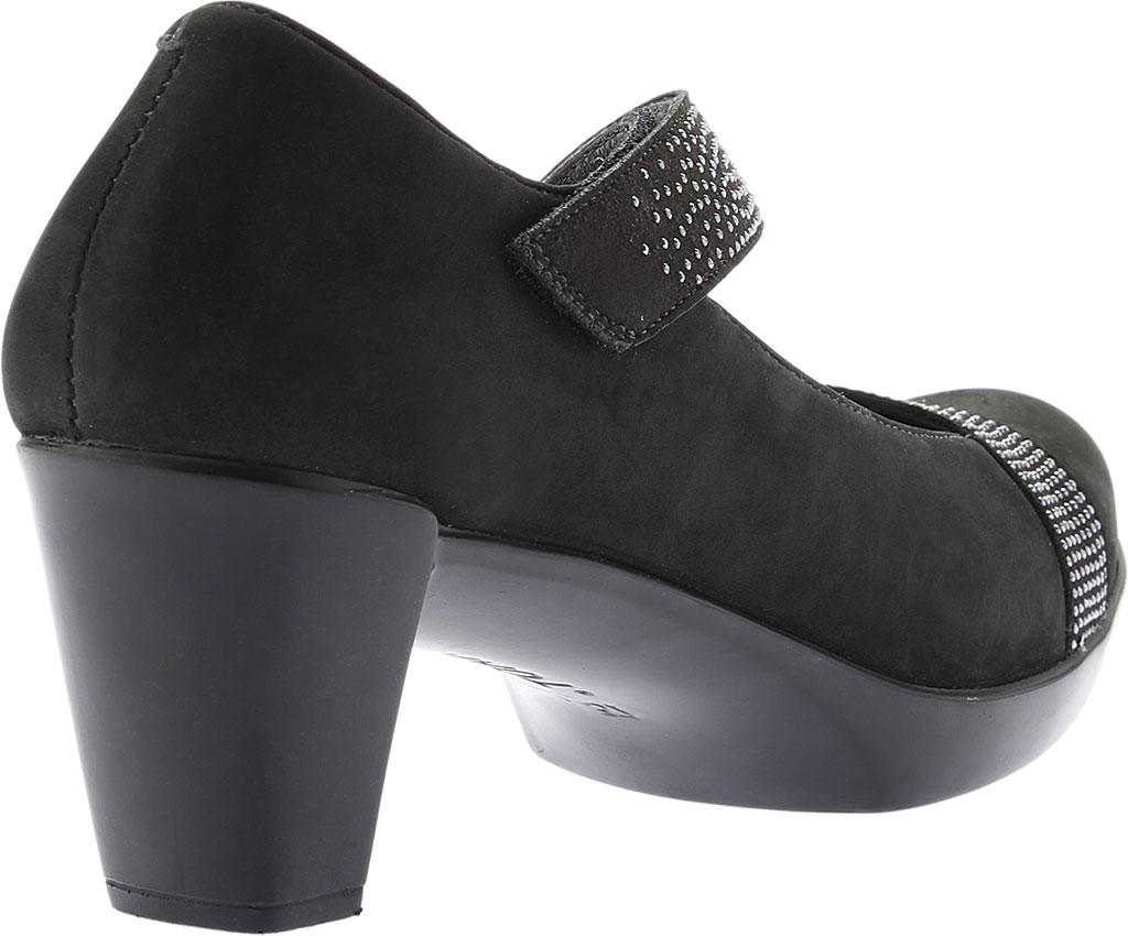 Women's Naot Abbracci Mary Jane, Black Combo Leather/Microfiber, large, image 4