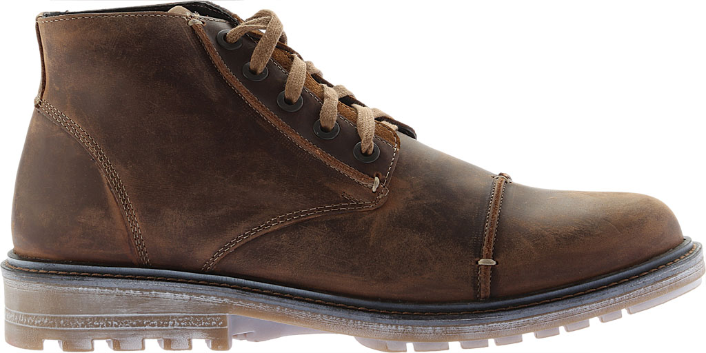 Men's Naot Mikumi Ankle Boots, Brown Combo Leather/Suede, large, image 2