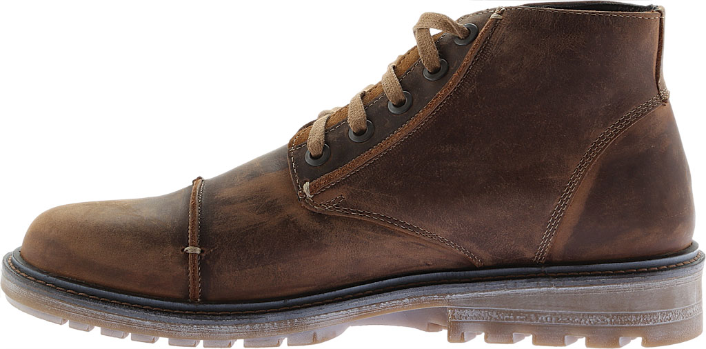 Men's Naot Mikumi Ankle Boots, Brown Combo Leather/Suede, large, image 3