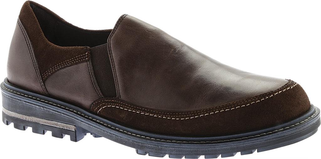 Men's Naot Pemba Slip On Shoe, Vintage Fog/Hash Leather/Suede, large, image 1