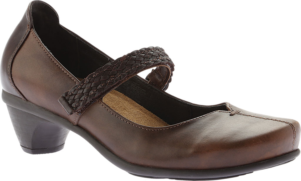 Women's Naot Forward Mary Jane, Brown Combo Leather, large, image 1