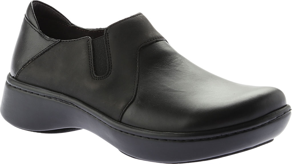 Women's Naot Lenok Slip On Shoe, Black Combo Leather/Nubuck, large, image 1