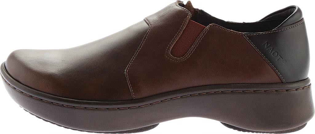 Women's Naot Lenok Slip On Shoe, Brown Combo Leather, large, image 3